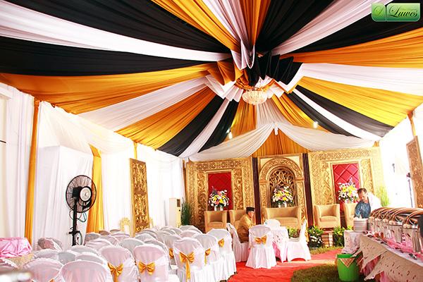 Dekorasi tenda dan pelaminan modifikasi