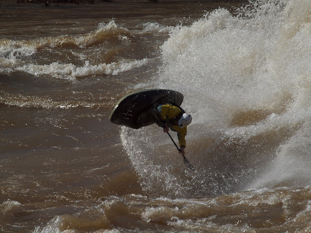 More stupid rediculous air for Ben. Center Wave on the Dries at 53,000cfs. Photo: Kirk
