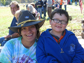 OSM/VISTA Krystle Chipman and a participant at a Pathfinders event.