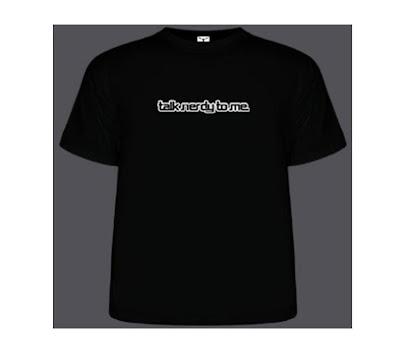 Bedrukte t-shirt 'Talk nerdy to me'