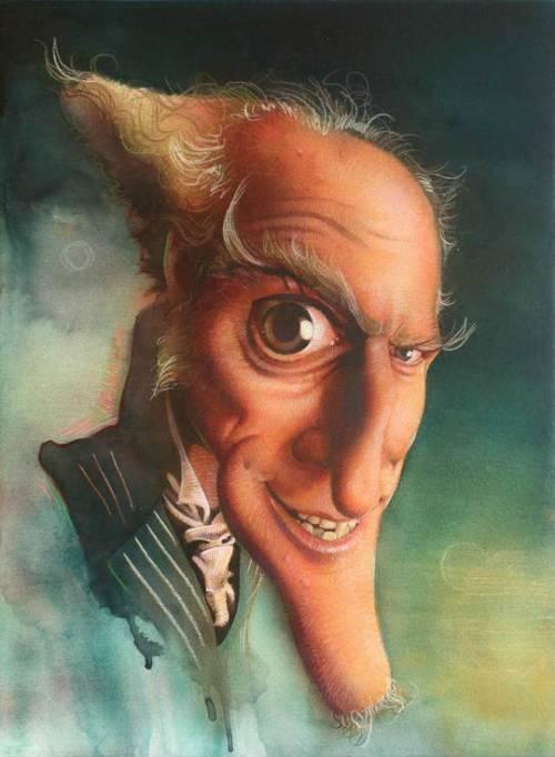 Джим Керри - Лемони Сникет - 18 юмористических карикатур на знаменитостей из 15 известных кинолент