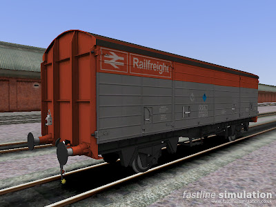 Fastline Simulation: VDA van for RailWorks in Railfreight flame red and grey livery.