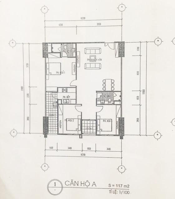 Căn A dự án chung cư 60 Hoàng Quốc Việt.