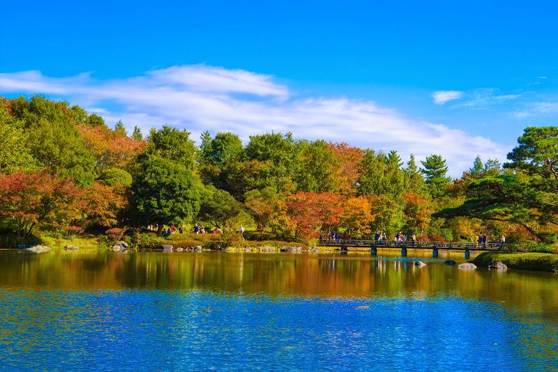 昭和記念公園 日本庭園 紅葉 写真3