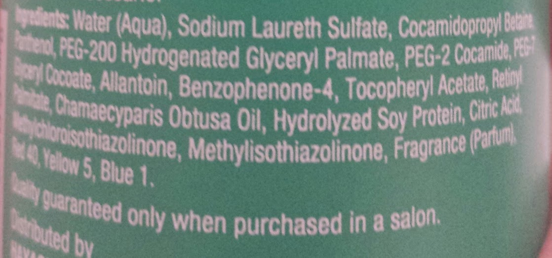 Hinoki Oil Shampoo Ingredients