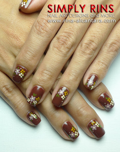 Brown For A Wedding Nail Art Design
