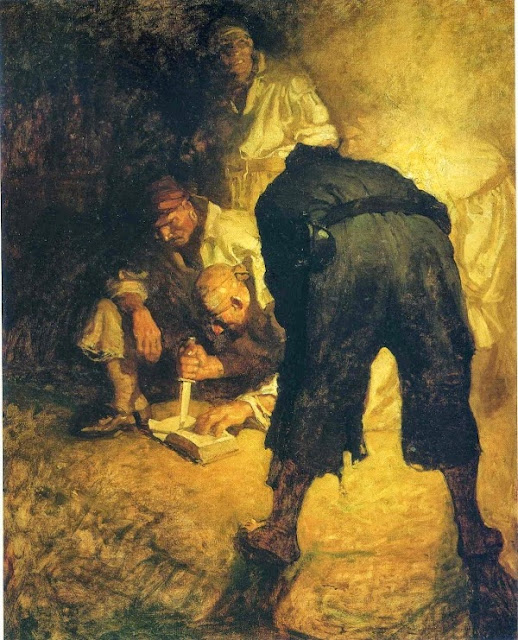 N. C. Wyeth - Treasure Island. The pirates
