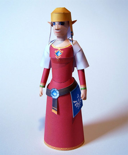 Legend of Zelda Skyward Sword Papercraft Zelda