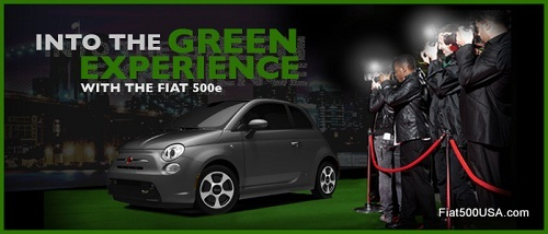 Fiat 500e Into the Green Event