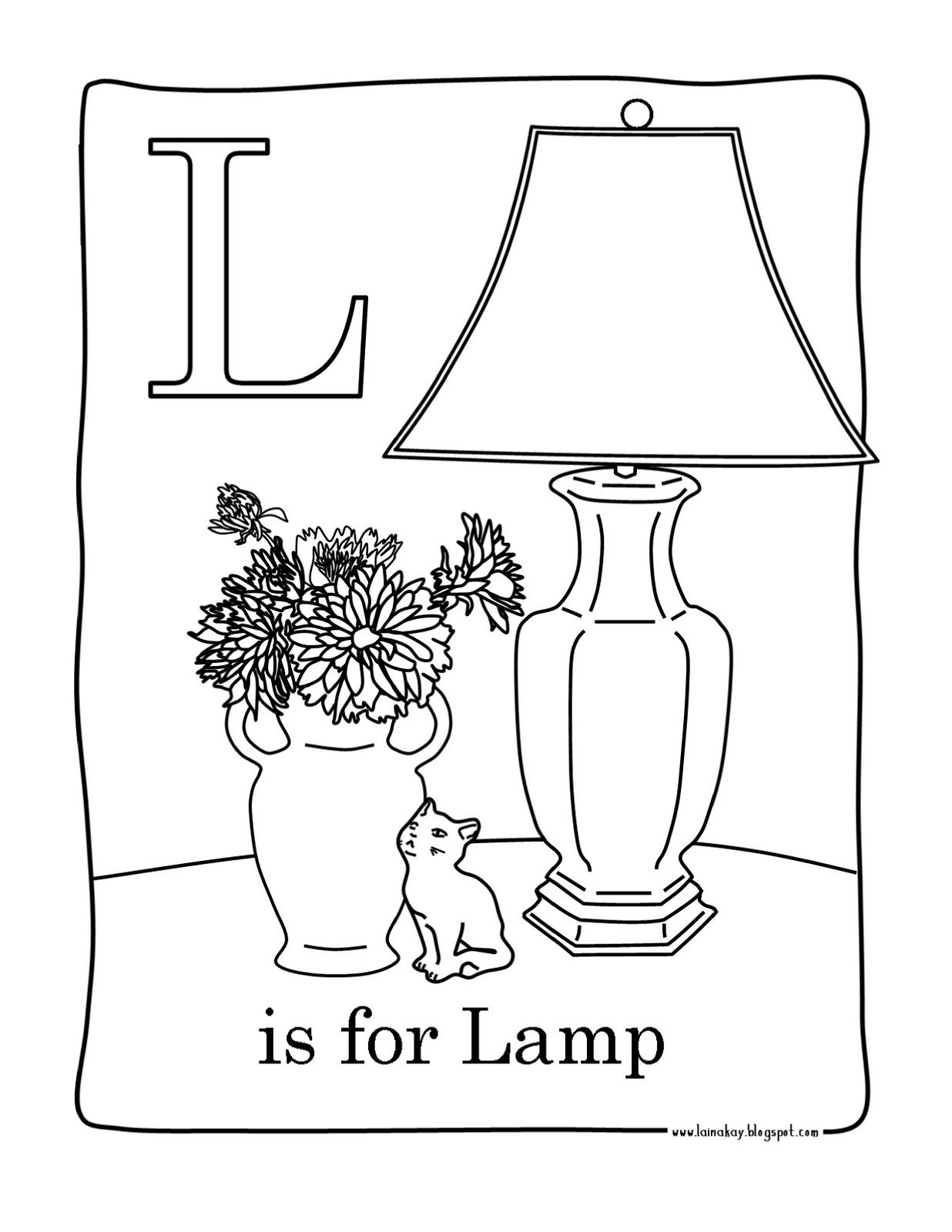 goodness gracious l is for lamp