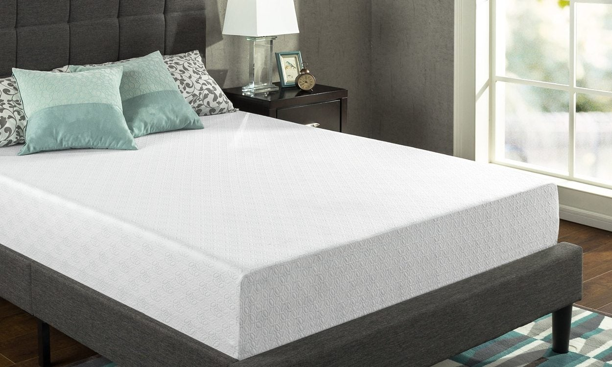 Memory foam mattresses tend to be softer than futon mattresses. Futon mattresses are foldable and firmer (since they are thinner, in general). Image from Overstock.com.
