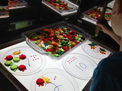 light table fine motor and math