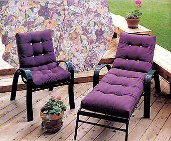 muebles de exterior con cojines