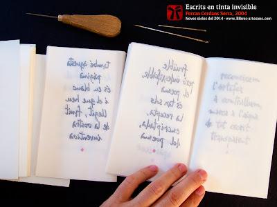 Cosint Escrits en tinta invisible, sèrie 2014