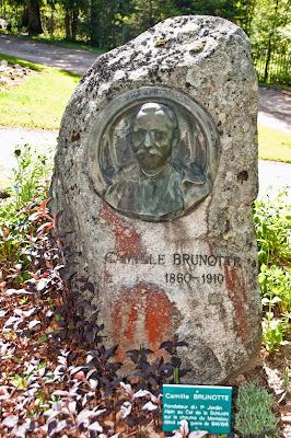 Professor Camille Brunotte, der Gründer des Gartens
