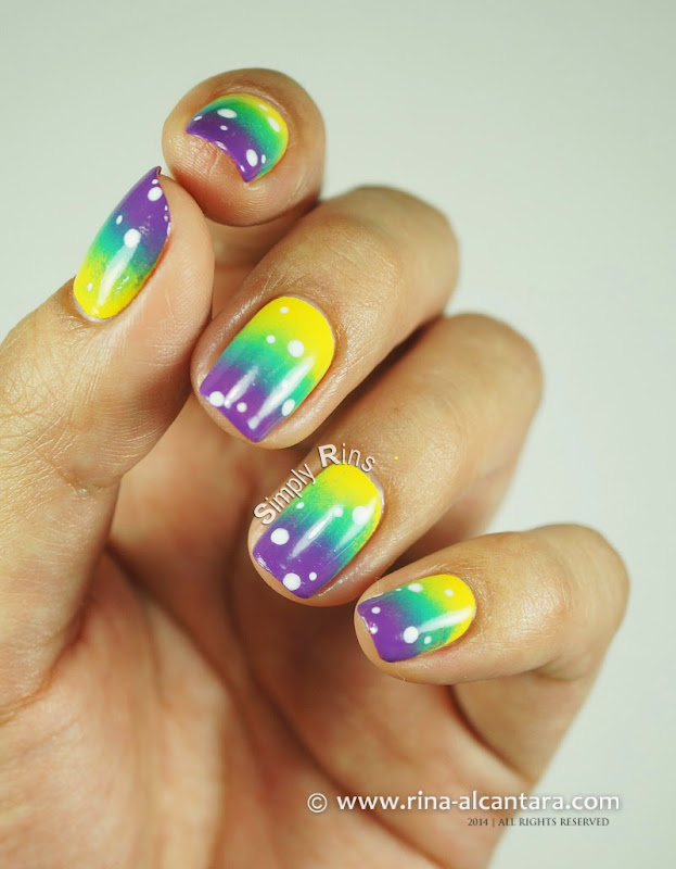 80s Gradient Nail Art Design by Rina Alcantara