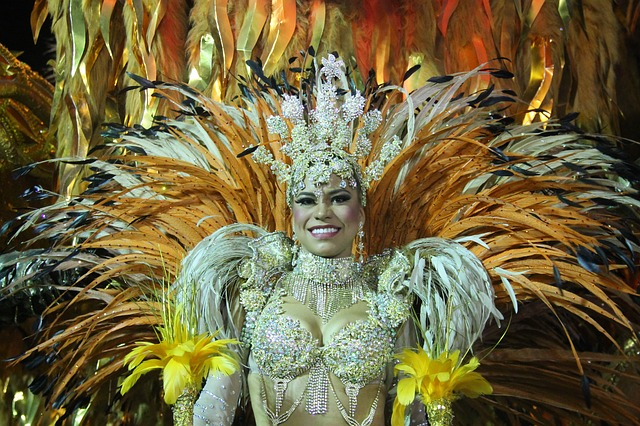 Carnival in Brazil Tips- Woman in flashy costume