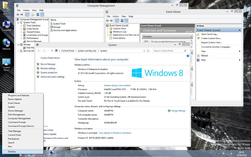 Windows 8 Start-tip Power Menu