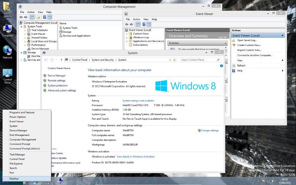 Windows 8 Start-tip Power Menu