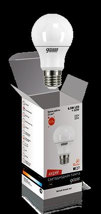 Лампа Gauss LED Elementary LON 6,5W A60 E27