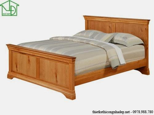 Giường ngủ bằng gỗ tự nhiên (xoan đào)