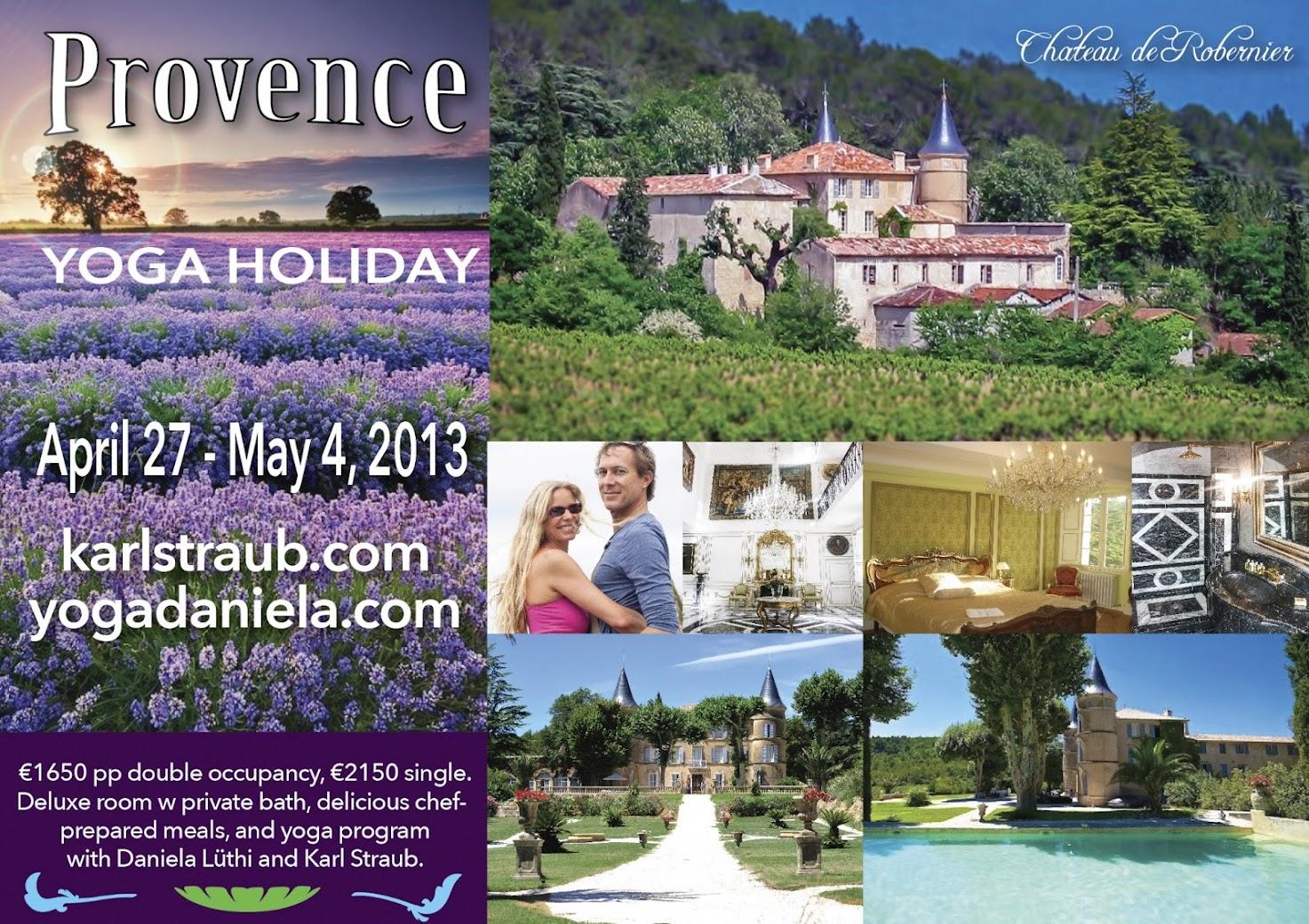 2013 April 27-May 4 Yoga Spa Retreat Provence