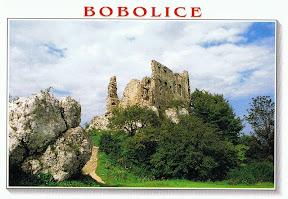 pocztówka zamek Bobolice przed odbudową