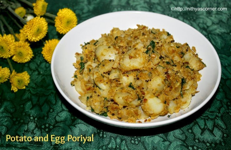 Potato egg poriyal