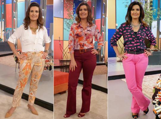 Calça Colorida Fátima Bernardes
