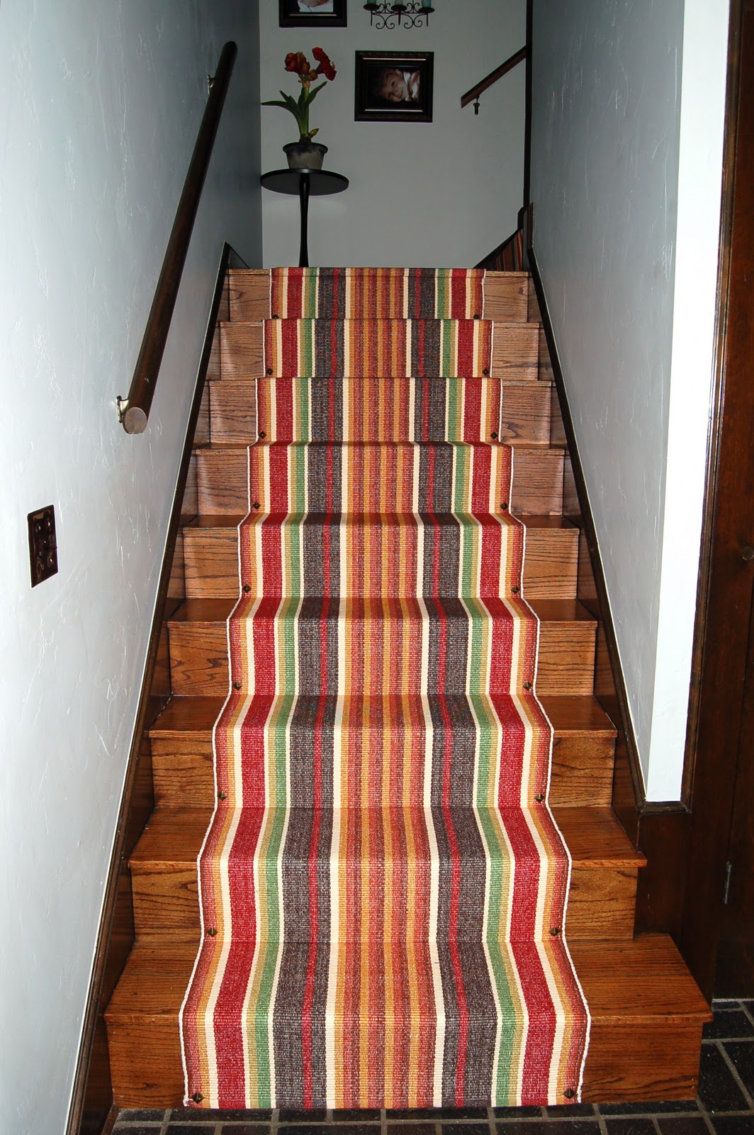Okla home a a trip down memory lane and a stair runner for Woven carpet for stairs