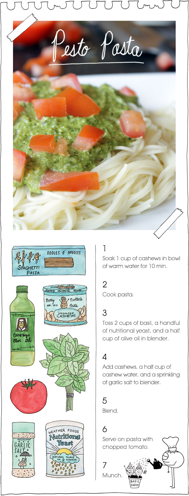 The Vegan Stoner's Pesto Pasta