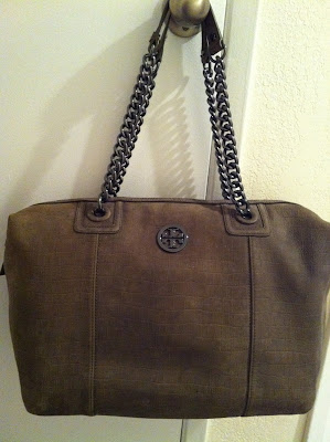 "Tory Burch McLane Tote in ""Camo Green(?)"""