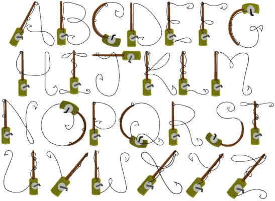 Glitter Glue And Fireflies Tuesday Typeface Fishing