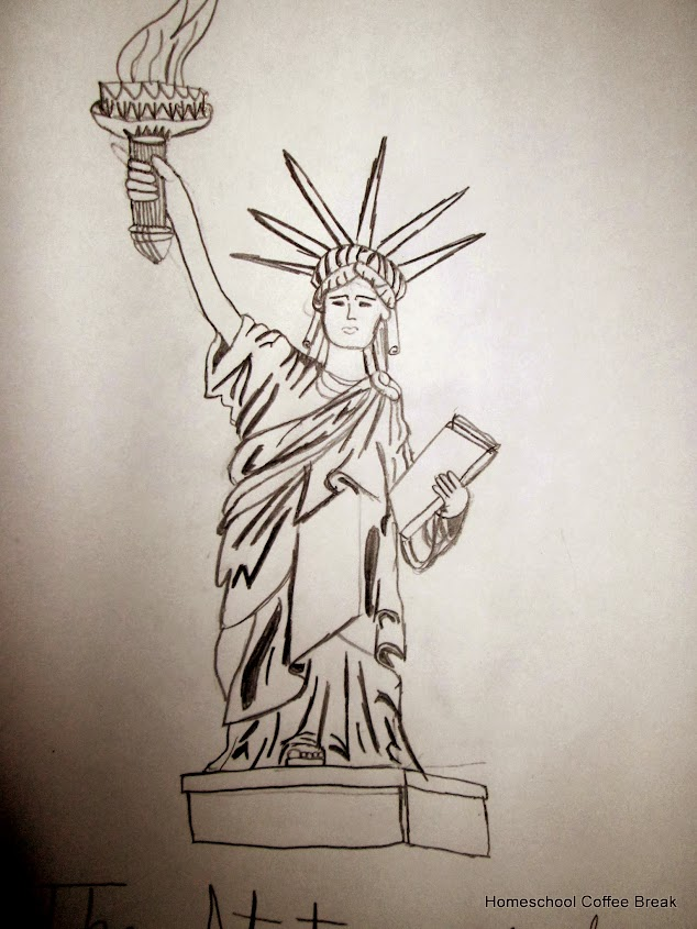 The Statue of Liberty - Blogging Through the Alphabet on Homeschool Coffee Break @ kympossibleblog.blogspot.com