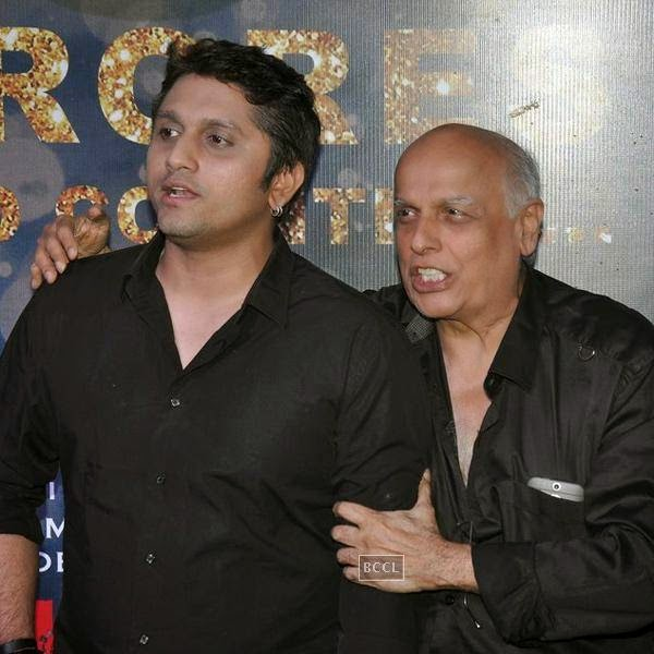 Mohit Suri and Mahesh Bhatt during the success party of Bollywood movie 'Ek Villain', held at Ekta Kapoor's residence on July 15, 2014.(Pic: Viral Bhayani)