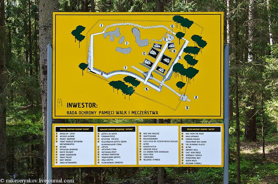 План польского военного кладбища