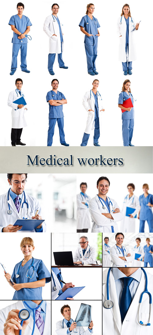 Stock Photo: Medical workers