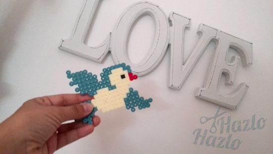 Cómo hacer un pájaro con hama beads