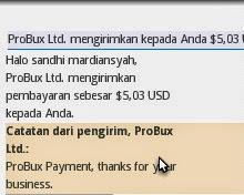 gambar Payout kedua Probux