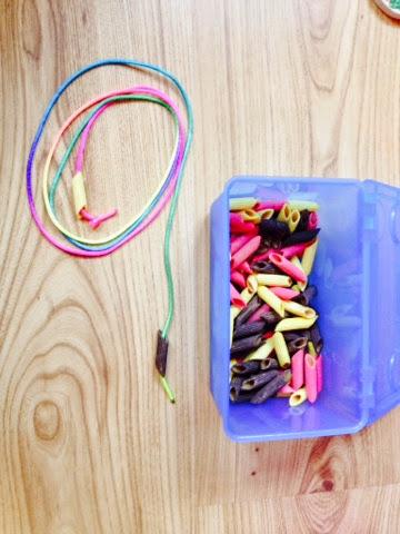 Activities Of Everyday Living Montessori Activity Threading Pasta