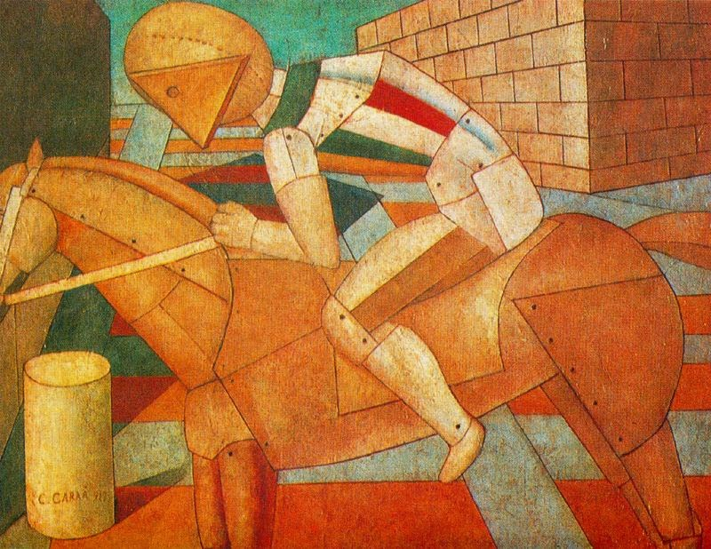 Carlo Carrà - Horse and Rider