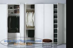 Tủ áo màu trắng hiện đại