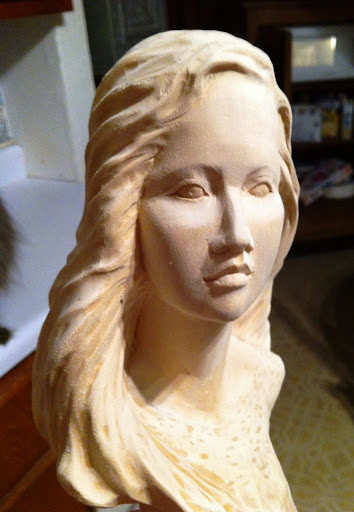 Portrait sculpture view topic carved female bust