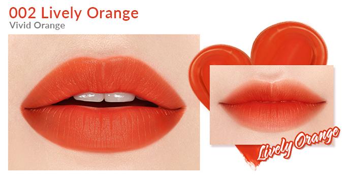 Son Bấm I'm MEME I'm Tic Toc Tint Lip Velvet Lively Orange