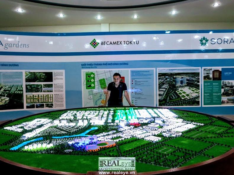 Công ty làm Mô hình kiến trúc REALEYE và Mô hình kiến trúc Bình Dương New City