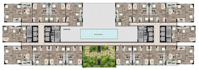Mặt bằng Tầng 6 - 14 - 22 - Tòa HH