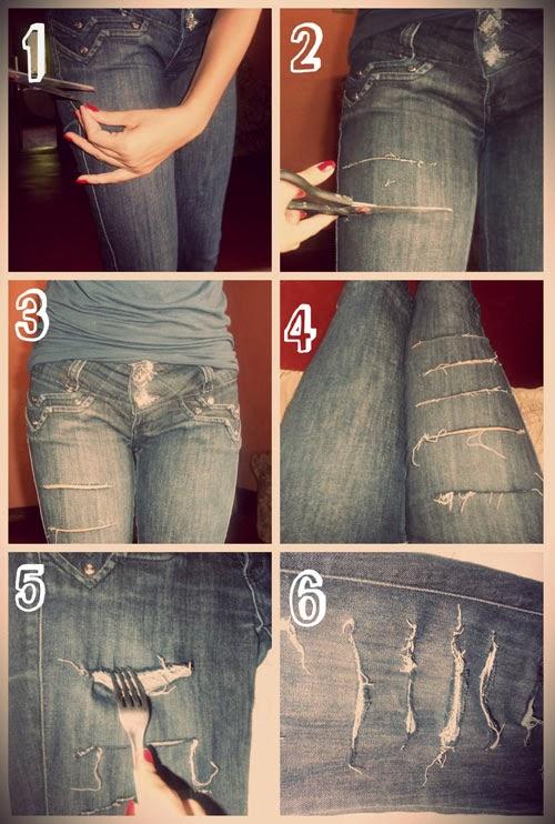 Passo a passo como fazer calça jeans destroyed