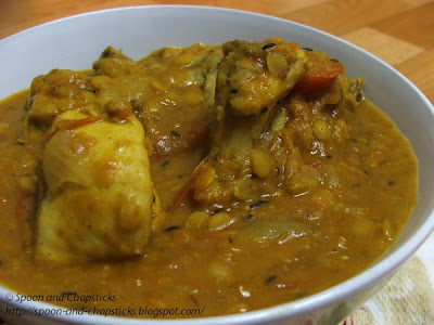 Chicken with Yellow Lentil Dahl