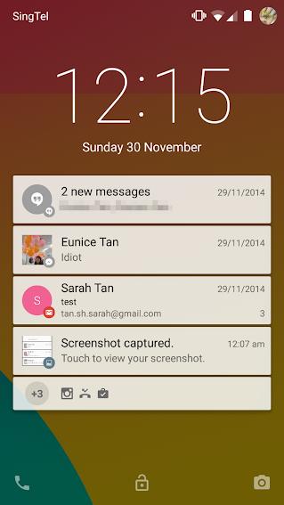 Notifications on lock screen
