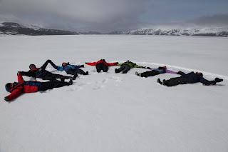 ležanje na Antarktiki